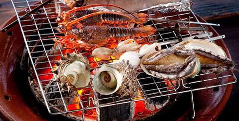 海鮮炭火焼き
