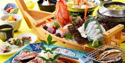 地魚舟盛り料理コース